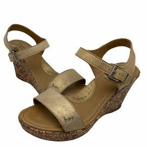 Born B.O.C. Wedge Sandals Lyle Size 8